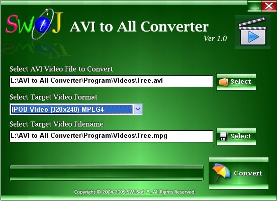 Easily Convert AVI and DivX Video Files to iPod, iPhone, PSP, Zune, etc.